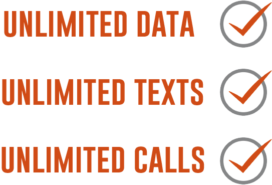 Unlimited data unlimited texts unlimited calls from £19.50 per month